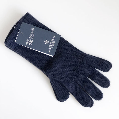 Women's Cashmere Gloves in Navy