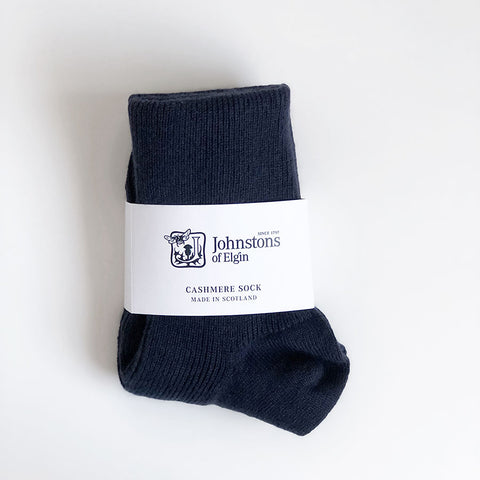 Women's Cashmere Socks in Navy