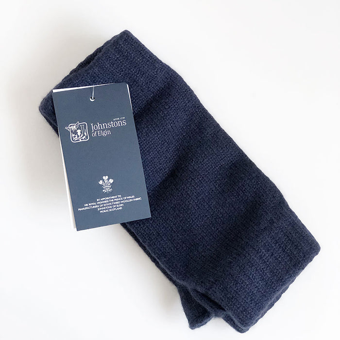 Cashmere Wrist Warmers in Navy