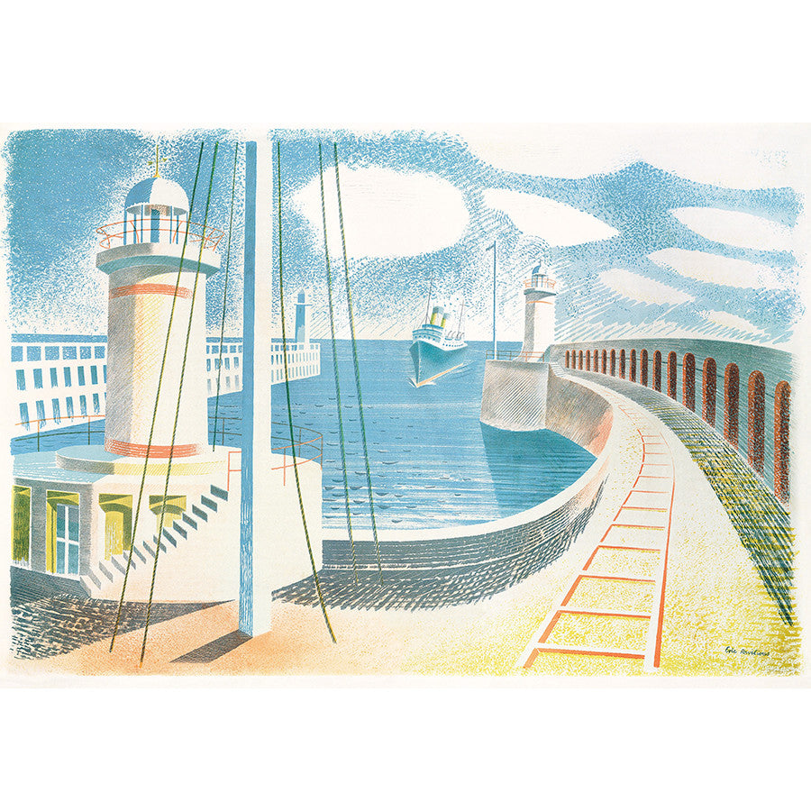 Newhaven Harbour By Eric Ravilious