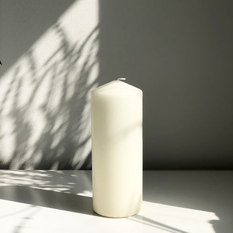 Ivory Church Pillar Candle in Large