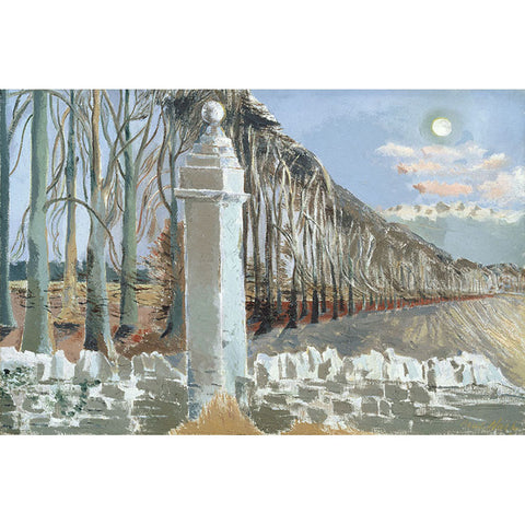 Pillar And Moon By Paul Nash