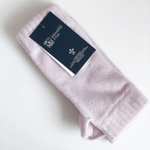 Unisex Cashmere Wristwarmers in Pink