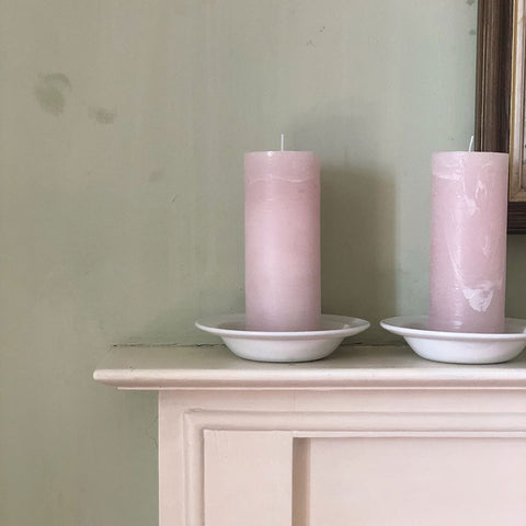 Hand Poured Pink Pillar Candle