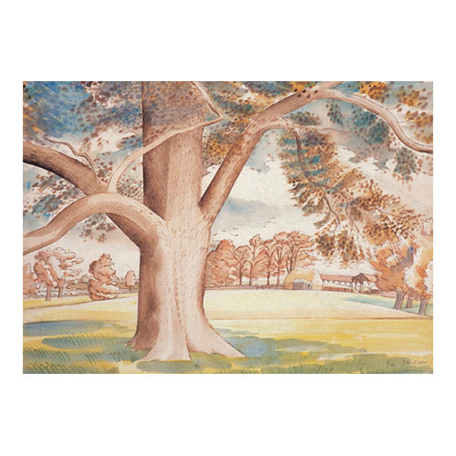 Field Elm, 1932 By Eric Ravilious Greeting Card