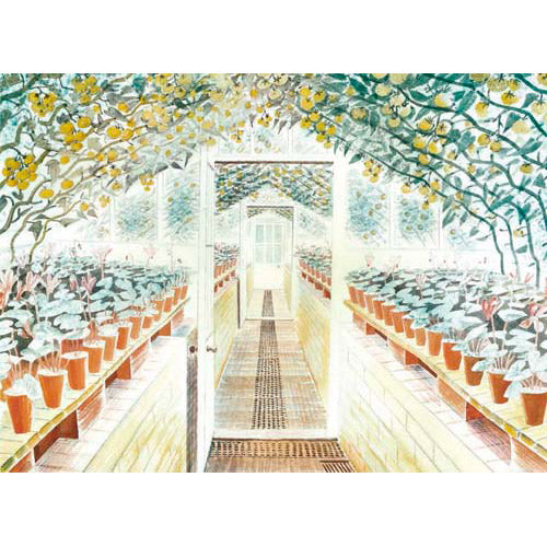 Greenhouse By Eric Ravilious Greeting Card
