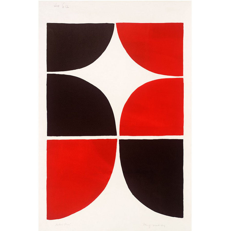Red And Black Solid 1967-8 By Sir Terry Frost