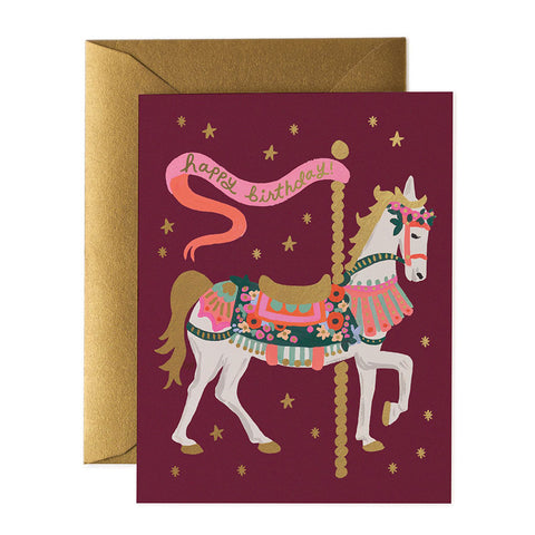 Carousel Birthday Greeting Card