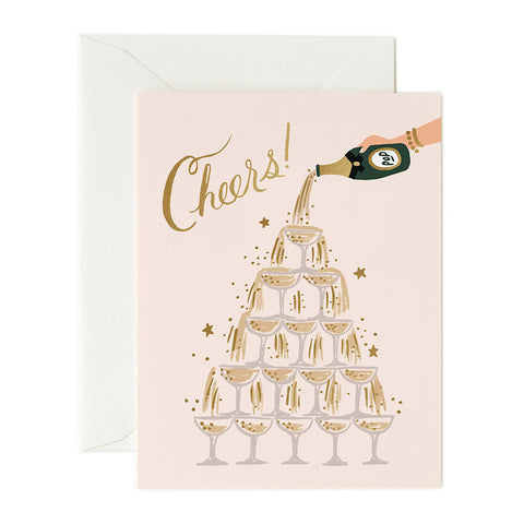 Champagne Tower Cheers Greeting Card