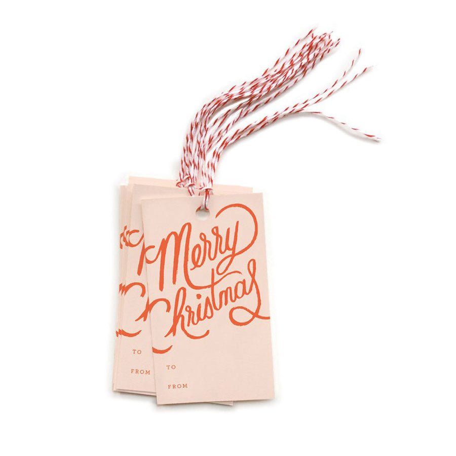 Pack Of 10 Merry Christmas Gift Tags