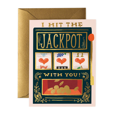 I Hit The Jackpot Greeting Card