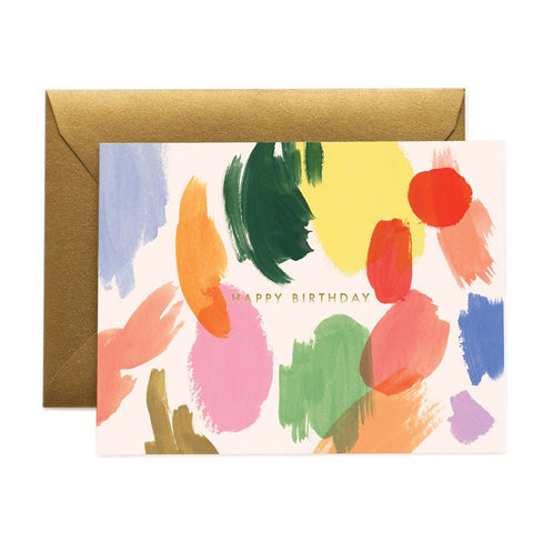 Palette Birthday Greeting Card