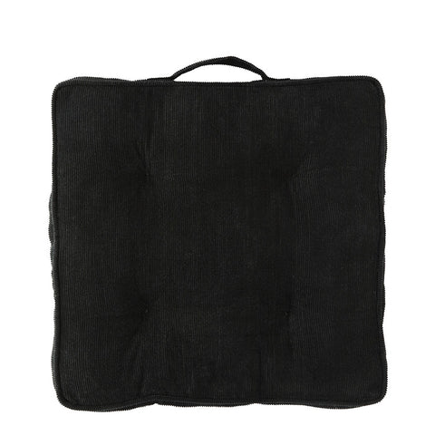 Corduroy Chair Pad in Black