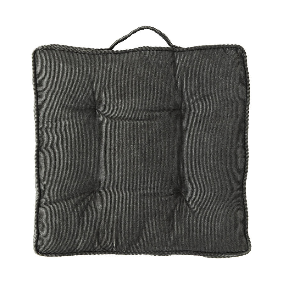 Corduroy Chair Pad in Grey