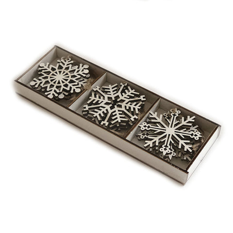 Box of 12 Snowflake Decorations