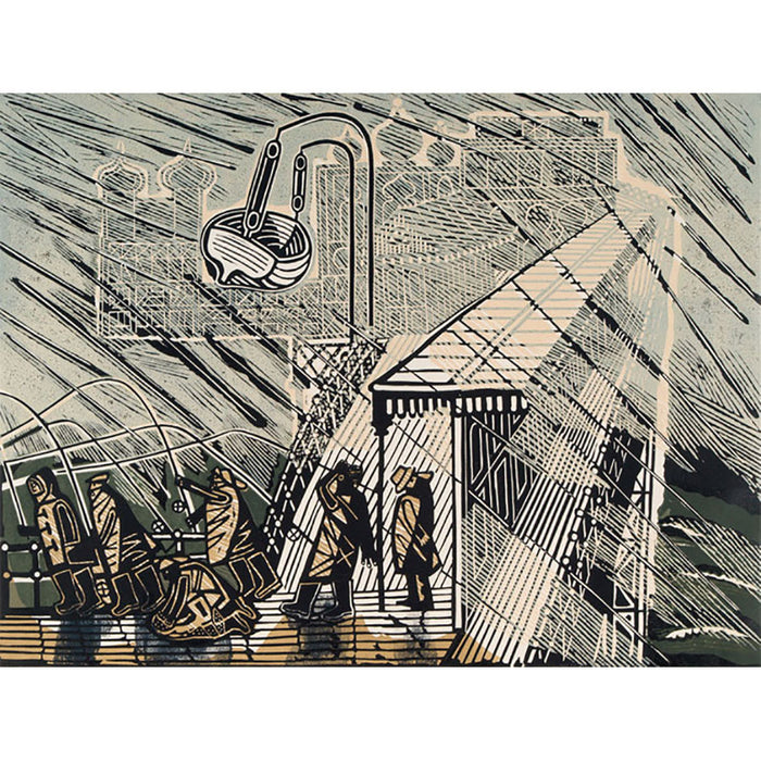 Snowstorm at Brighton By Edwards Bawden