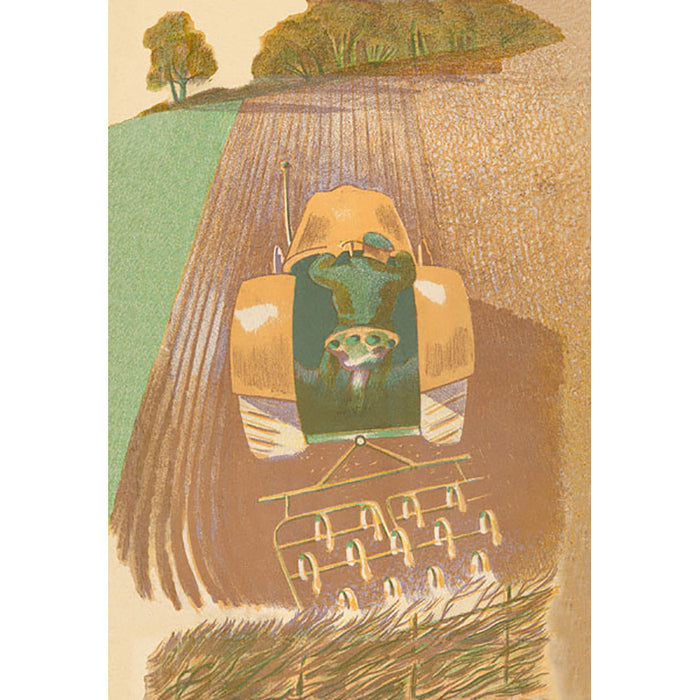 Spring Harrowing By John Nash