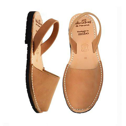 Palmaira Leather Sandal In Tan