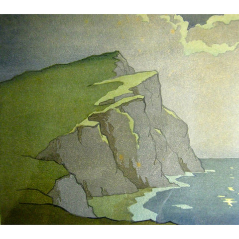 Headland by Moonlight 1929 By Eric Slater