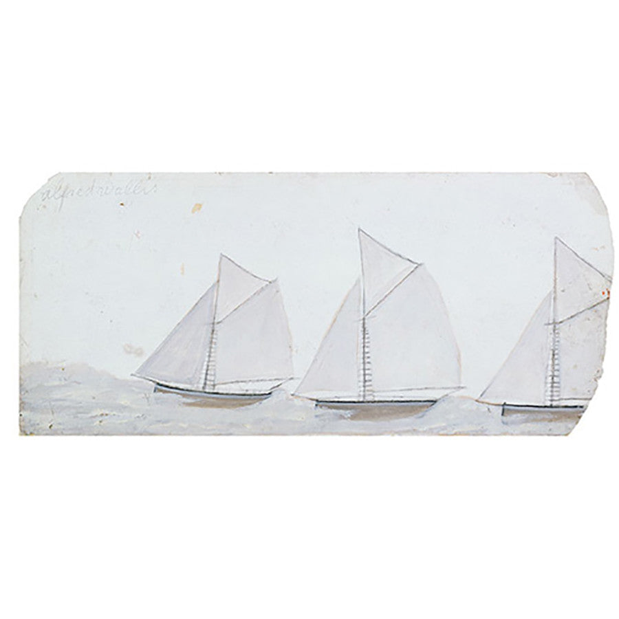 Three Sailing Boats in a Line