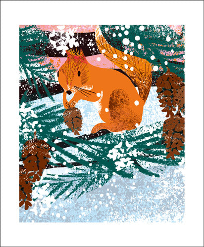 Winter Squirrel by Tim Hopgood Greeting Card