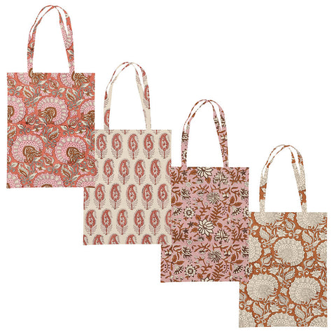 Block Printed Cotton Tote Bags