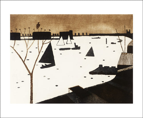 Winter, 1974 by Julian Trevelyan Greeting Card