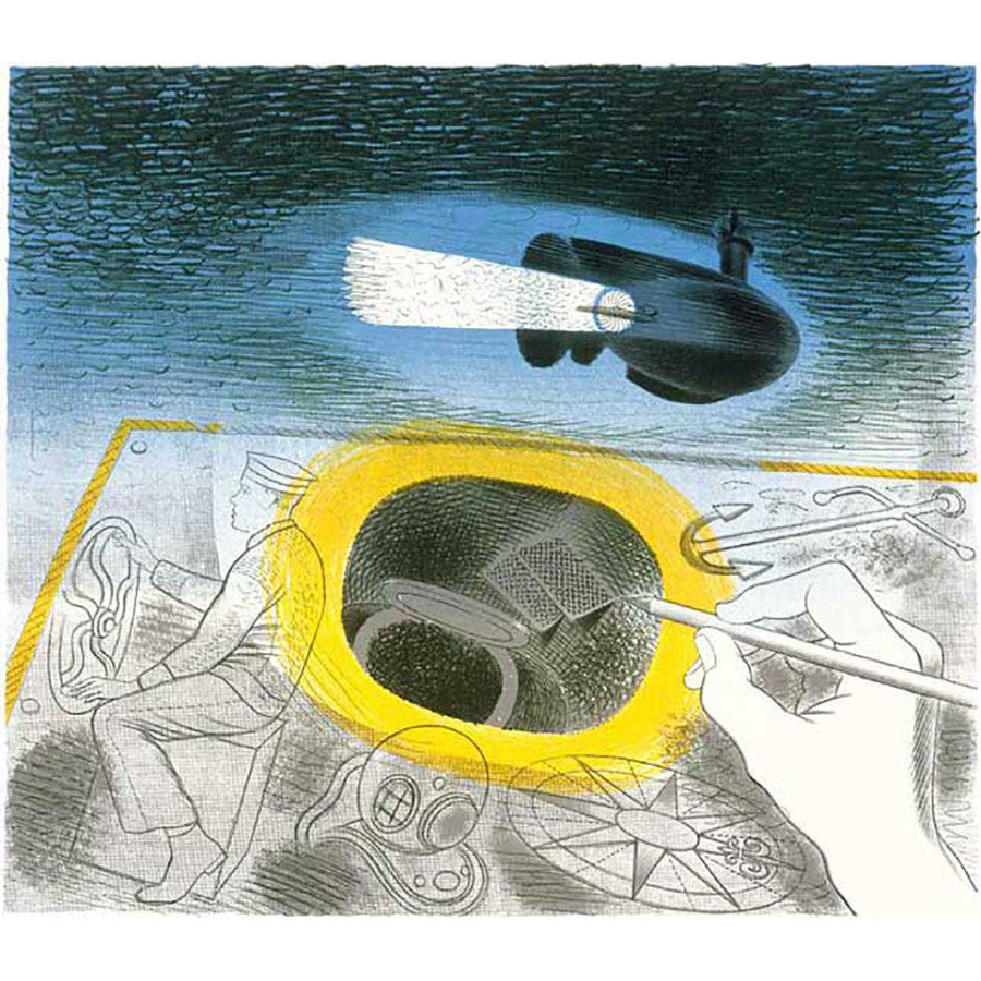 Submarine Series Introductory Lithograph By Eric Ravilious