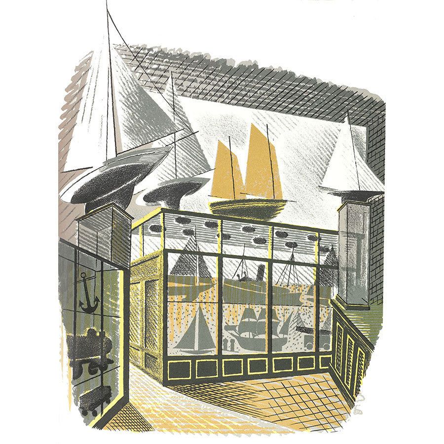 High Street Series | Model Ships and Railways By Eric Ravilious