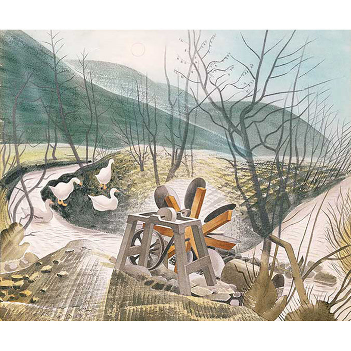 The Waterwheel By Eric Ravilious