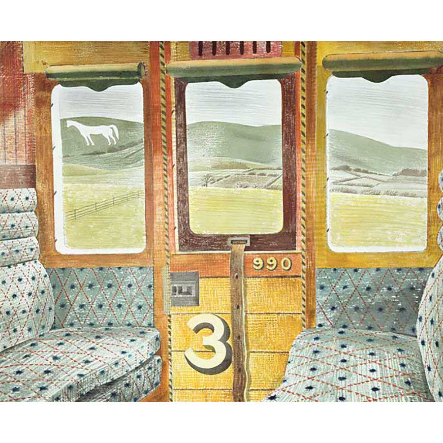 Train Landscape By Eric Ravilious