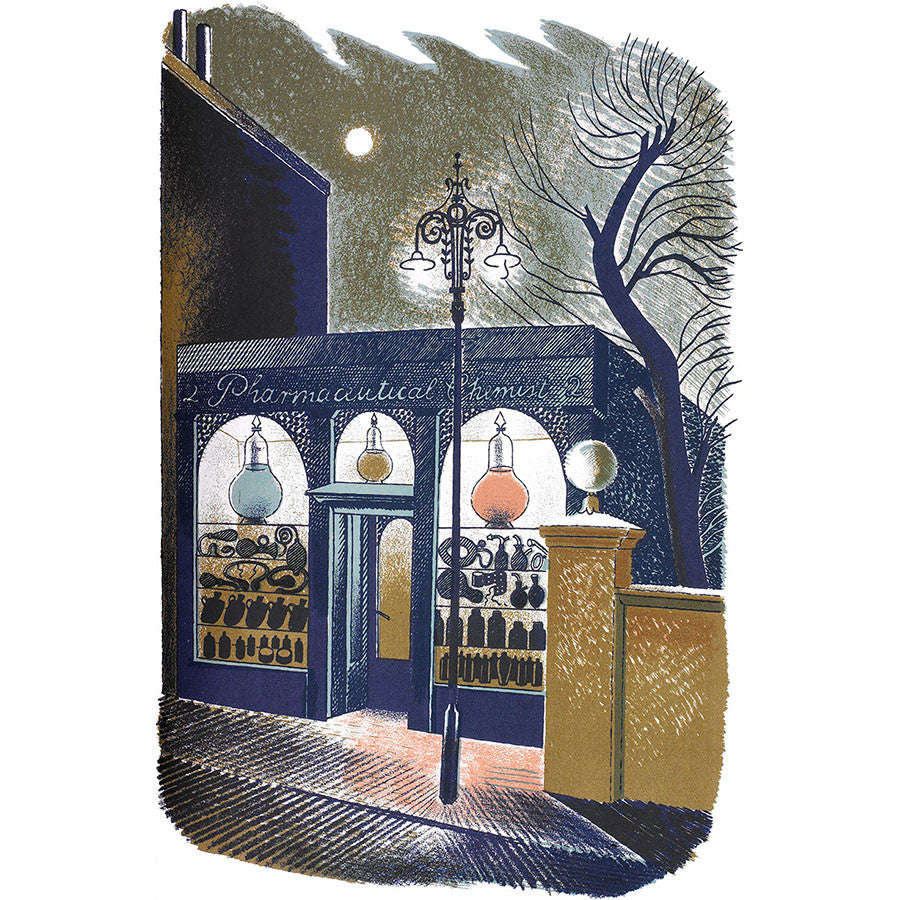 High Street Series | Pharmaceutical Chemist By Eric Ravilious