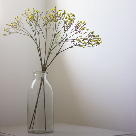Faux Baby's Breath Bunch in Yellow