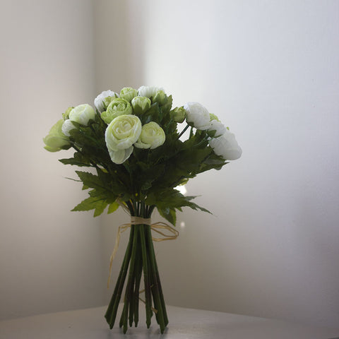 Bunch of Faux Ranunculus in Cream