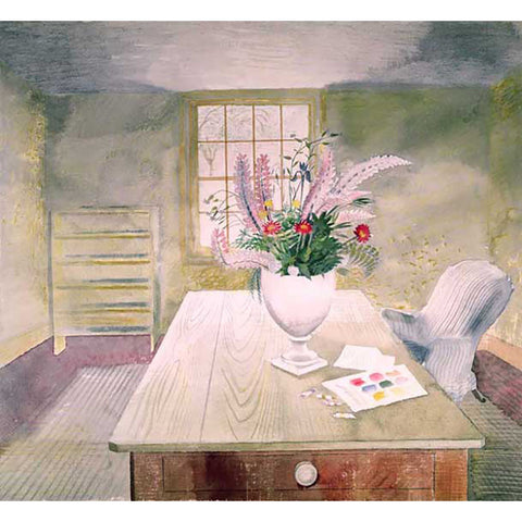 Flowers on Cottage Table