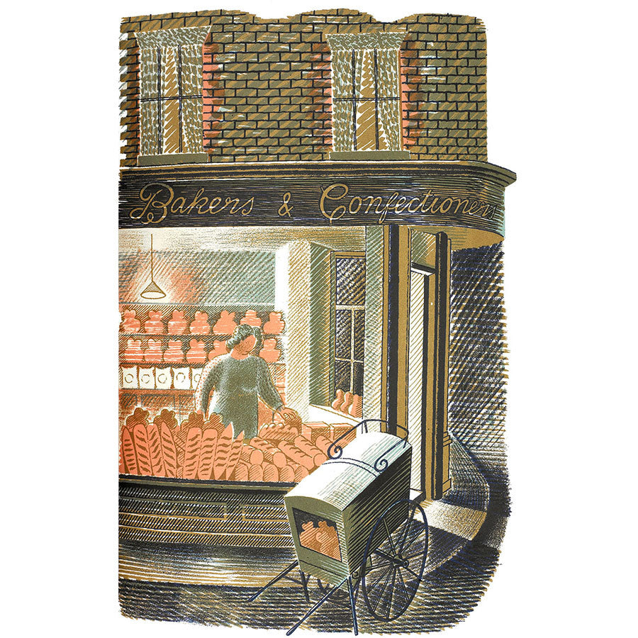 High Street Series | Baker and Confectioner By Eric Ravilious