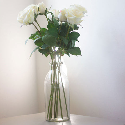 Faux Bunch of Cream Roses