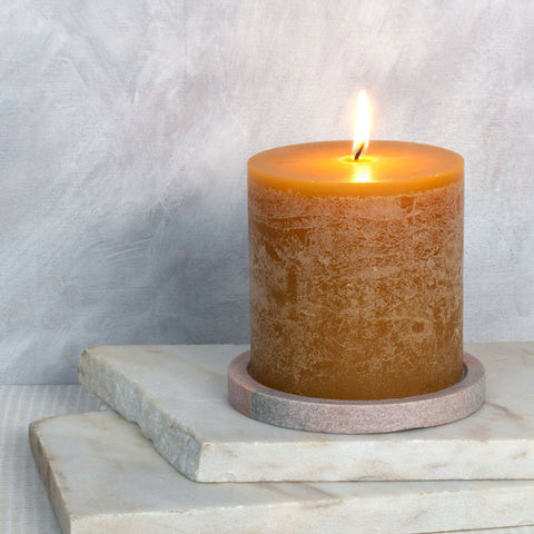 Honey Scented Pillar Candle 10 x 10 cm