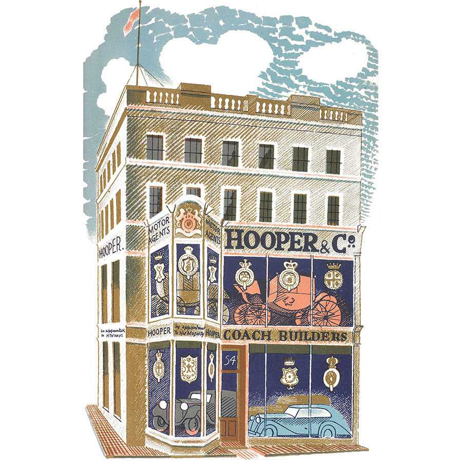 High Street Series | Coach Builder By Eric Ravilious
