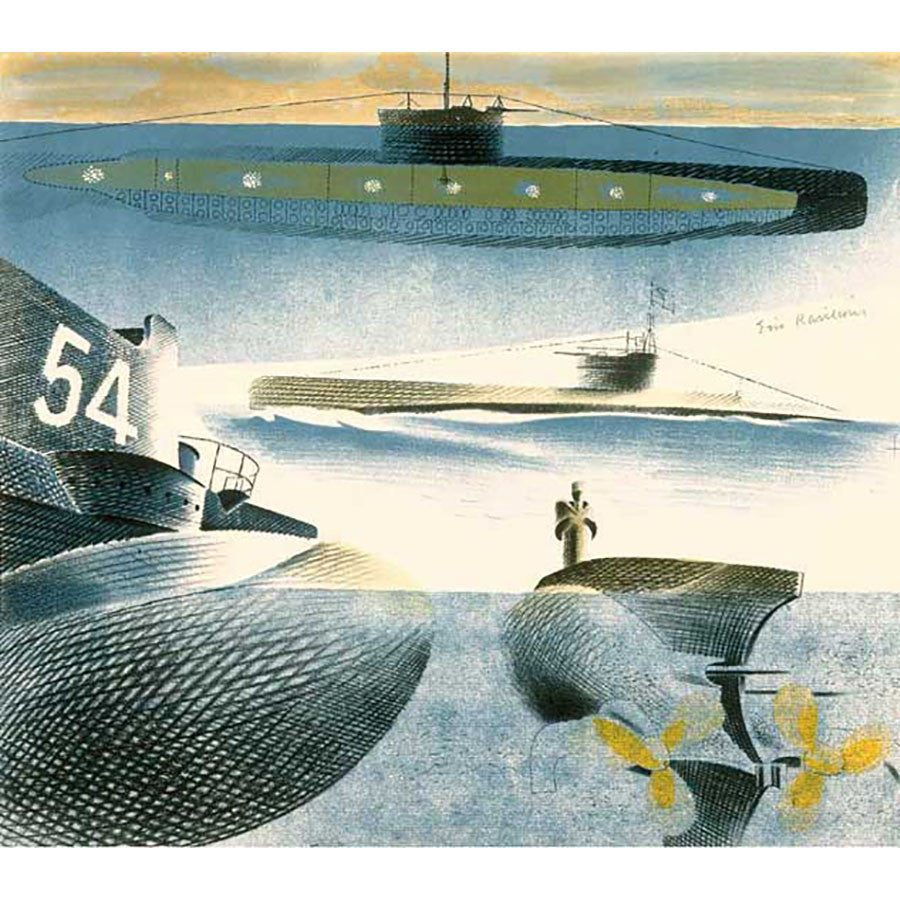 Different Aspects Of Submarines By Eric Ravilious
