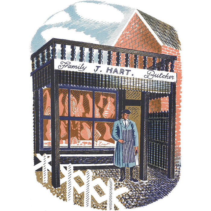 High Street Series | Family Butcher By Eric Ravilious