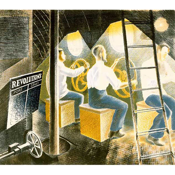 Men Operating Submarine Controls By Eric Ravilious