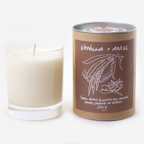 Vanilla + Anise Scented Soy Candle