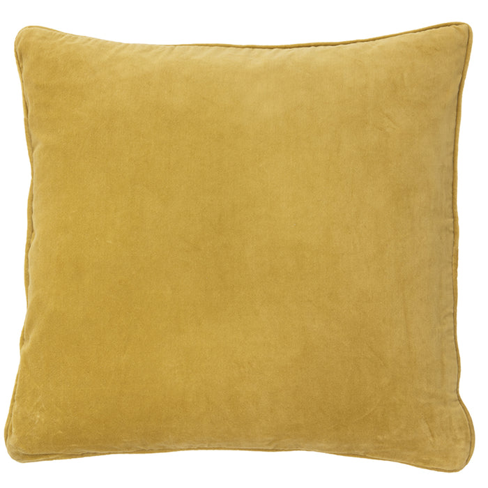 Dijon Yellow Cotton Velvet Cushion