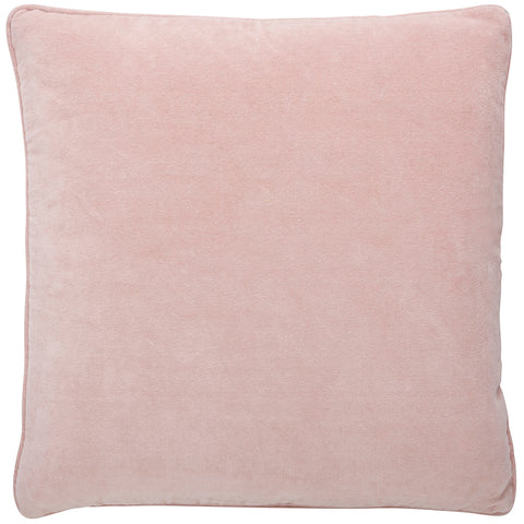 Blush Pink Cotton Velvet Cushion