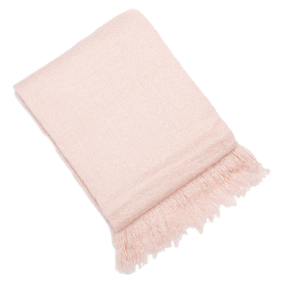 Vogue Throw in Soft Pink