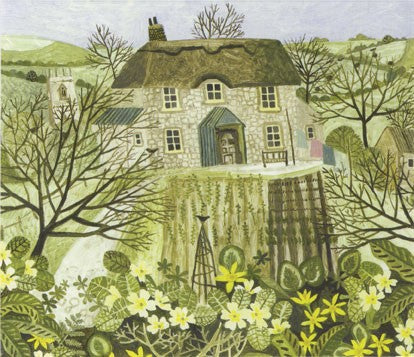 Tom's Cottage by Vanessa Bowman Greeting Card