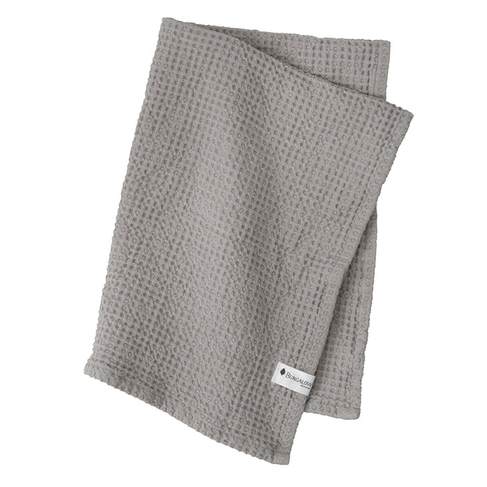Waffle Stone Grey Cotton Cloths x2