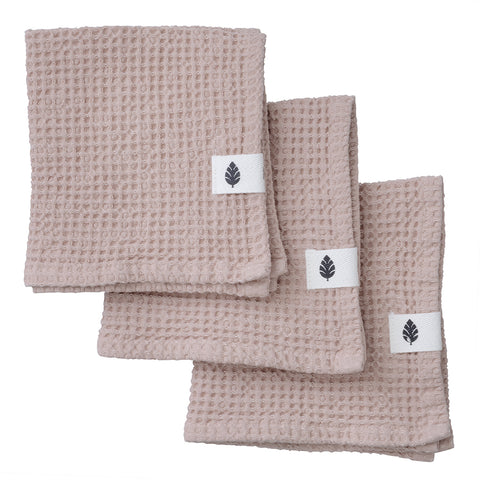 Waffle Blush Pink Cotton Cloths x3