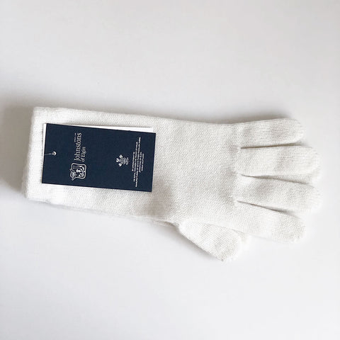 Women's Cashmere Gloves in White
